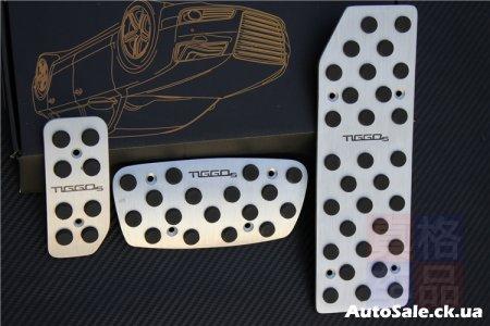 Накладки на педали алюминиевые с логотипом Chery Tiggo 5