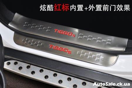 Chery Tiggo 5 тюнинг кузова. Хром на новый Чери Тиго 5