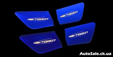 Тюнинг салона новый Chery Tiggo 7 Украина. Аксессуары салон, хром пакет салона Чери Тиго 7